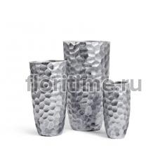 Кашпо Ergo Comb высокий закругленный конус: застаренное серебро