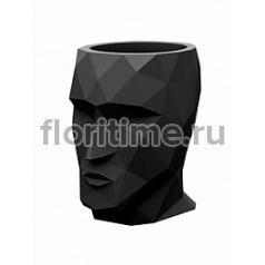 Кашпо Vondom Adan basic black, чёрного цвета Длина — 17 см Высота — 18 см
