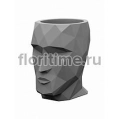 Кашпо Vondom Adan basic grey, серого цвета Длина — 17 см Высота — 18 см