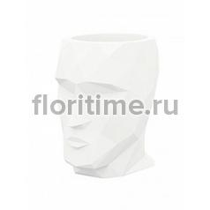 Кашпо Vondom Adan basic white, белого цвета Длина — 17 см Высота — 18 см