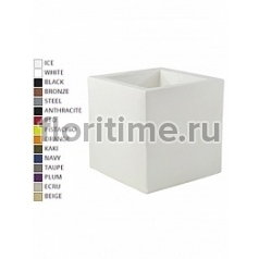 Кашпо Vondom Cubo basic square color Длина — 80 см Высота — 80 см