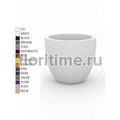 Кашпо Vondom Cuenco simple round color Диаметр — 50 см Высота — 43 см