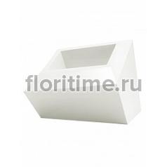 Кашпо Vondom Faz basic white, белого цвета Длина — 59 см Высота — 42 см