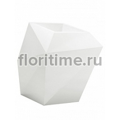 Кашпо Vondom Faz basic white, белого цвета Длина — 66 см Высота — 70 см