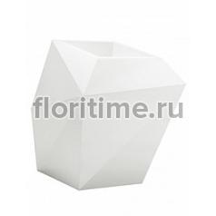 Кашпо Vondom Faz XL размер basic white, белого цвета Длина — 92 см Высота — 101 см