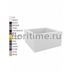 Кашпо Vondom Land (plaza) basic square color Длина — 60 см Высота — 30 см