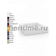 Кашпо Vondom Land (plaza) basic square color Длина — 120 см Высота — 30 см