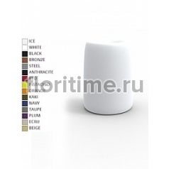 Кашпо Vondom Organic basic round high color Диаметр — 51 см Высота — 69 см