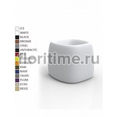 Кашпо Vondom Organic basic square color Длина — 55 см Высота — 48 см