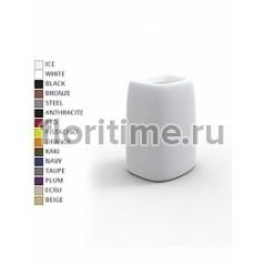 Кашпо Vondom Organic basic square high color Длина — 31 см Высота — 48 см