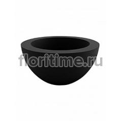 Кашпо Vondom Sfera (cono) cono bowl black, чёрного цвета round Диаметр — 60 см Высота — 30 см
