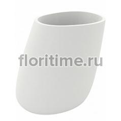 Кашпо Vondom Stone basic oval XL размер white, белого цвета Длина — 140 см Высота — 140 см