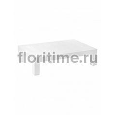Столик журнальный Plants first choice design table white, белого цвета Длина — 120 см Высота — 30 см