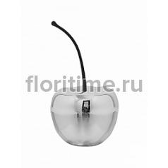 Вишня декоративная Fiberstone platinum под цвет серебра cherry S размер  Диаметр — 23 см Высота — 27 см