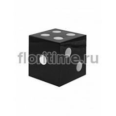 Игральные кости декоративные Fiberstone jan des bouvrie glossy black, чёрного цвета jan dice XS размер Длина — 15 см  Высота — 15 см