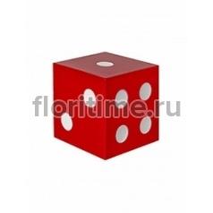 Игральные кости декоративные Fiberstone jan des bouvrie glossy red, красного цвета jan dice XS размер Длина — 15 см  Высота — 15 см