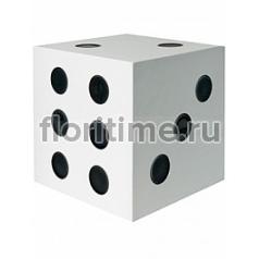 Игральные кости декоративные Fiberstone jan des bouvrie glossy white, белого цвета dice S размер Длина — 25 см  Высота — 25 см