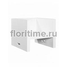 Кресло Fiberstone jan des bouvrie glossy white, белого цвета fauteuil Длина — 80 см  Высота — 65 см