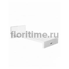 Лежак Fiberstone jan des bouvrie glossy white, белого цвета lounger Длина — 207 см  Высота — 55 см