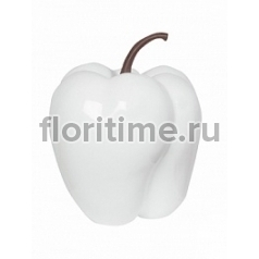 Перец декоративный Pepper glossy white, белого цвета M размер  Диаметр — 455 см Высота — 55 см