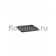 Поддон Pottery Pots Fiberstone saucer block 30, grey, серого цвета Длина — 33 см  Высота — 4 см