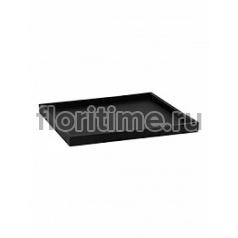 Поддон Pottery Pots Fiberstone saucer block 40, black, чёрного цвета Длина — 43 см  Высота — 4 см