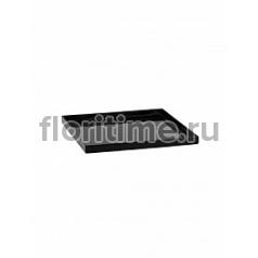 Поддон Pottery Pots Fiberstone saucer block 40, glossy black, чёрного цвета Длина — 43 см  Высота — 4 см