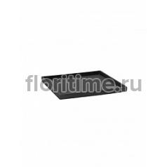 Поддон Pottery Pots Fiberstone saucer block 40, grey, серого цвета Длина — 43 см  Высота — 4 см