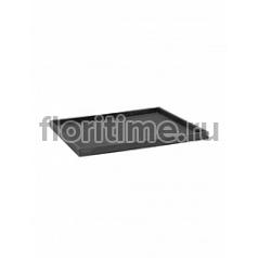 Поддон Pottery Pots Fiberstone saucer block 50, grey, серого цвета Длина — 53 см  Высота — 4 см