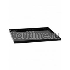 Поддон Pottery Pots Fiberstone saucer block 60, glossy black, чёрного цвета Длина — 63 см  Высота — 4 см