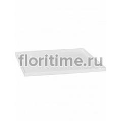 Поддон Pottery Pots Fiberstone saucer block 60, glossy white, белого цвета Длина — 63 см  Высота — 4 см