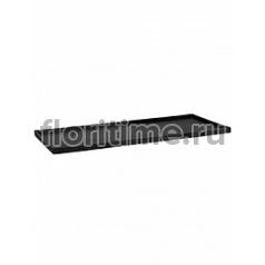 Поддон Pottery Pots Fiberstone saucer jort 50, black, чёрного цвета Длина — 103 см  Высота — 4 см