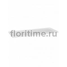Поддон Pottery Pots Fiberstone saucer jort 50, glossy white, белого цвета Длина — 103 см  Высота — 4 см