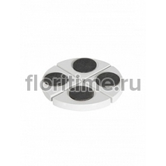 Подножки Fiberstone accessoires glossy white, белого цвета pot feet (4)