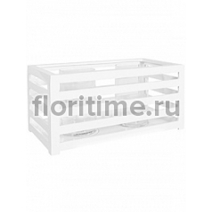 Подсвечник Fiberstone jan des bouvrie glossy white, белого цвета lantern M размер Длина — 60 см  Высота — 28 см