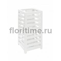 Подсвечник Fiberstone jan des bouvrie glossy white, белого цвета lantern S размер Длина — 30 см  Высота — 60 см
