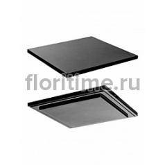 Подставка Fiberstone accessoires glossy black, чёрного цвета topper L размер (thin) Длина — 40 см  Высота — 25 см