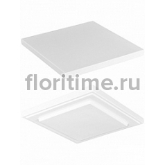 Подставка Fiberstone accessoires glossy white, белого цвета topper S размер (thin) Длина — 25 см  Высота — 2 см