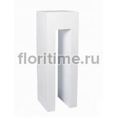 Пьедестал Pottery Pots Fiberstone glossy white, белого цвета rise Длина — 40 см  Высота — 120 см