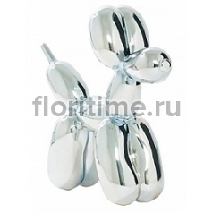 Собака декоративная Fiberstone platinum dog под цвет серебра