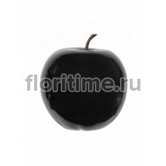 Яблоко декоративное Pottery Pots Apple glossy black, чёрного цвета L размер  Диаметр — 53 см Высота — 56 см