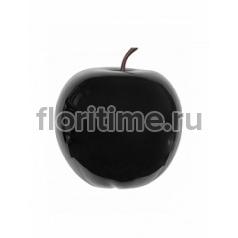 Яблоко декоративное Pottery Pots Apple glossy black, чёрного цвета XL размер  Диаметр — 64 см Высота — 68 см