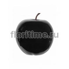 Яблоко декоративное Pottery Pots Apple glossy black, чёрного цвета XXL размер  Диаметр — 80 см Высота — 83 см