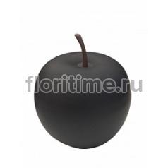 Яблоко декоративное Pottery Pots Apple matt black, чёрного цвета XXL размер  Диаметр — 80 см Высота — 83 см