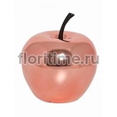 Яблоко декоративное Pottery Pots Fiberstone platinum rose apple XS размер  Диаметр — 15 см Высота — 17 см