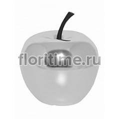 Яблоко декоративное Pottery Pots Fiberstone platinum под цвет серебра apple S размер  Диаметр — 25 см Высота — 285 см