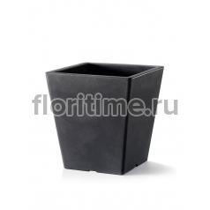 Кашпо TeraPlast Pasubio Quadro 40 антрацит