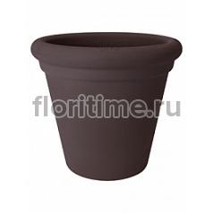 Кашпо Elho Allure doppio bark brown, коричнево-бурого цвета диаметр - 35 см высота - 31 см