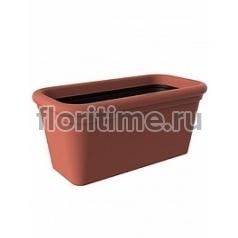 Кашпо Elho Allure doppio rectangle red, красного цвета sand длина - 80 см высота - 36 см