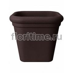 Кашпо Elho Allure doppio square bark brown, коричнево-бурого цвета длина - 40 см высота - 36 см